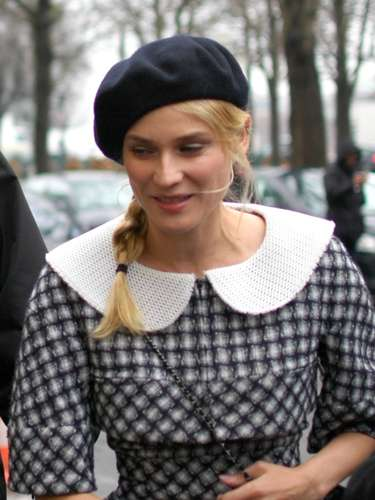 La actriz y modelo alemana, Diane Kruger, también estaba en el front row.