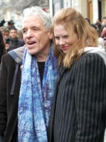 El cineasta Abel Ferrara fue otro de los presentes en el desfile de Jean Paul Gaultier, en París.