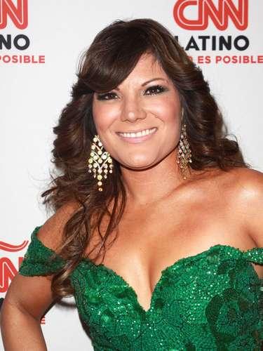Diana Reyes se robó el show al lucir un espectacular escotazo en la fiesta de lanzamiento del canal CNN Latino, llevada a cabo en Los Ángeles.