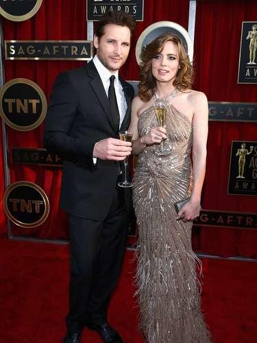 Y la elegante Vitalie Taittinger no podía perderse esta ceremonia de premiación, donde se galardonan las mejores actuaciones del año, pues es la encargada de la apertura junto al sexy Peter Facinelli.