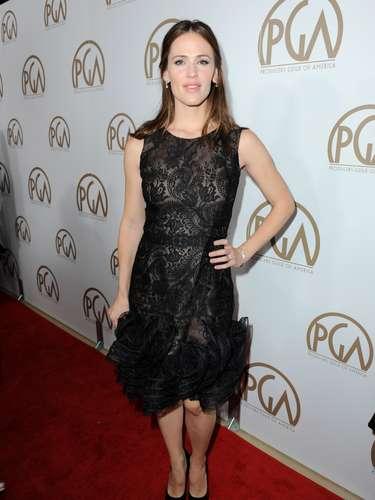 Jennifer Garner asistió acompañada de su esposo Ben Affleck al cual fue a apoyar en losPGA Awards