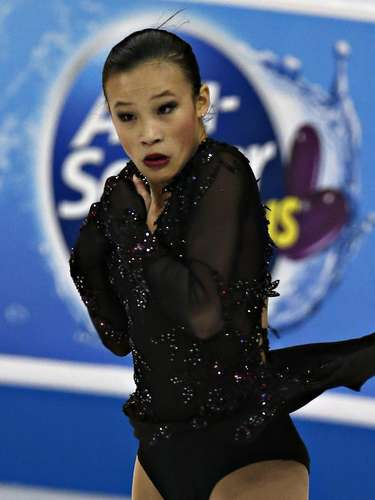 Christina Gao competes during the Ladies Free Skate event at the U.S. Figure Skating Championships in Omaha, Nebraska, January 26, 2013.  REUTERS/Jim Young  (UNITED STATES - Tags: SPORT FIGURE SKATING)
