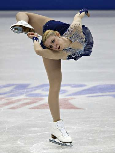 Agnes Zawadzki competes during the Ladies Free Skate at the U.S. Figure Skating Championships in Omaha, Nebraska, January 26, 2013.  REUTERS/Jim Young  (UNITED STATES - Tags: SPORT FIGURE SKATING)