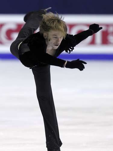 Sergei Voronov of Russia performs during the men's free skating program at the European Figure Skating Championships in Zagreb January 26, 2013.                REUTERS/Antonio Bronic (CROATIA  - Tags: SPORT FIGURE SKATING)