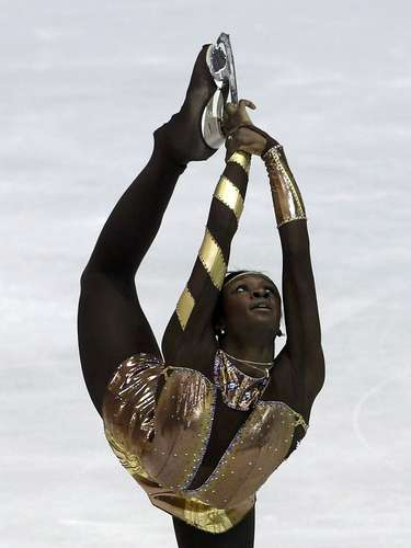 Mae Berenice Meite of France performs during the women's free skating program at the European Figure Skating Championships in Zagreb January 26, 2013.   REUTERS/Antonio Bronic (CROATIA  - Tags: SPORT FIGURE SKATING)