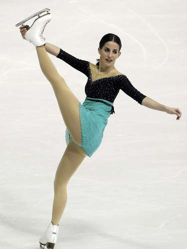 Sonia Lafuente of Spain performs during the women's free skating program at the European Figure Skating Championships in Zagreb January 26, 2013.     REUTERS/Antonio Bronic (CROATIA  - Tags: SPORT FIGURE SKATING)