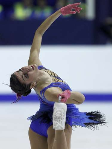 Valentina Marchei of Italy performs during the women's free skating program at the European Figure Skating Championships in Zagreb January 26, 2013.    REUTERS/Antonio Bronic (CROATIA  - Tags: SPORT FIGURE SKATING)