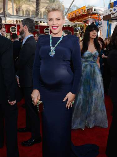 BEST. Busy Philipps gets a nod for being ballsy enough to show off her mom-to-be curves in this form-fitting dress.