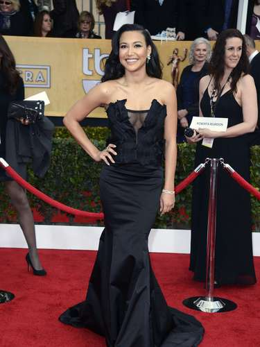 BEST: Glee's Naya Rivera is flirty and elegant.