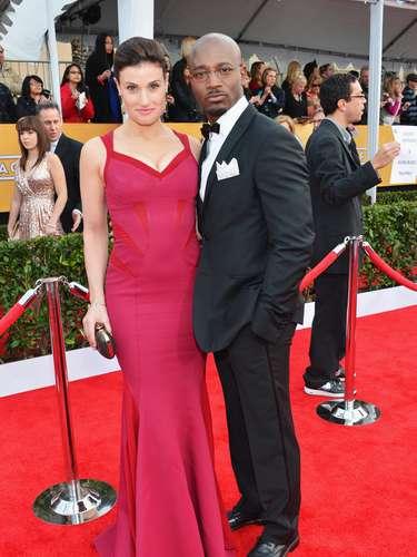 Actor Taye Diggs & Idina Menzel