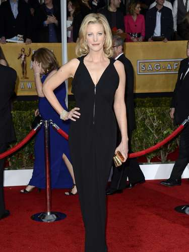 Breaking Bad actress Anna Gunn in a plunging neckline was one of the sexiest dressed of the night.