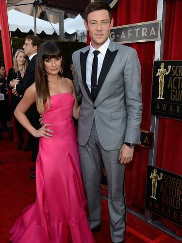 Glee's Lea Michele & co-star Cory Monteith