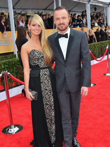 'Breaking Bad''s Aaron Paul and his fiancee Lauren Parsekian make a grea couple.