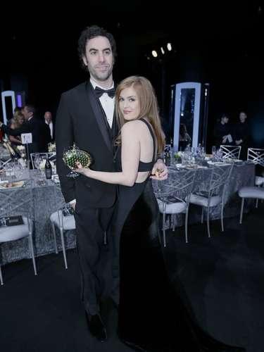 Una pareja dispareja pero muy enamorada, Sacha Baron Cohen y su esposaIsla Fisher