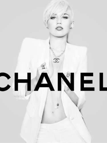 Miley Cyrus posing for CHANEL.