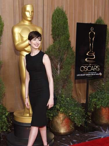 Una de las actrices más querdias, Anne Hathaway, nominada en la categoría de Mejor Actriz de Reparto por \