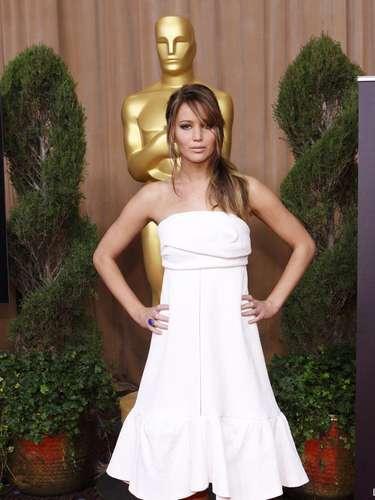 La guapísima Jennifer Lawrence, nominada como Mejor actriz por su actuación en \