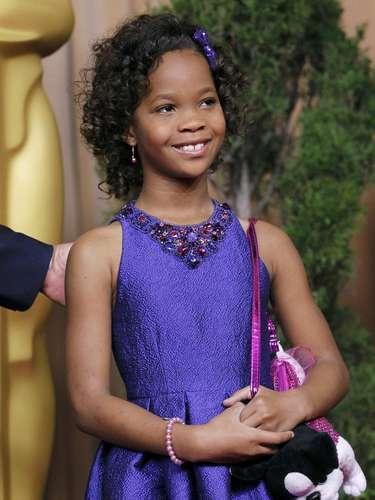 Quvenzhane Wallis, nominada en la categoría de Mejor Actriz por su actuación en \