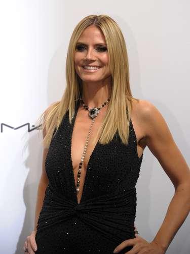 Heidi Klum llevaba un osado escote para la noche de gala.