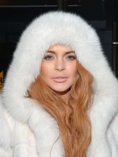 Oh Lindsay! We don't know if the star was trying to make PETA mad by wearing fur out and about in New York City or if she was really that cold...