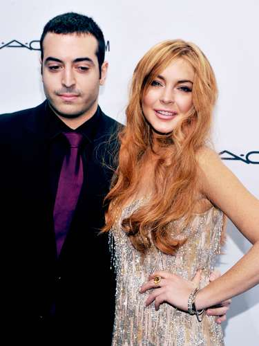Here's Lindsay posing with Mohammed Al Turki.