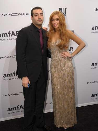 Mohammed Al Turki y Lindsay Lohan posaron juntos para la lente de los fotógrafos.
