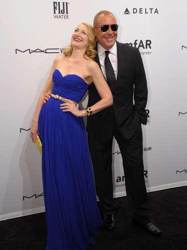 La actriz Patricia Clarkson y el estilista Michael Kors se divirtieron durante el evento.