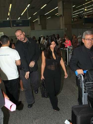 La transparencia del atuendo de Kim Kardashian dejaba ver su embarazo