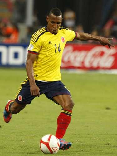 Luis Perea jugó todo el partido en la goleada de Colombia 4-1 sobre Guatemala.