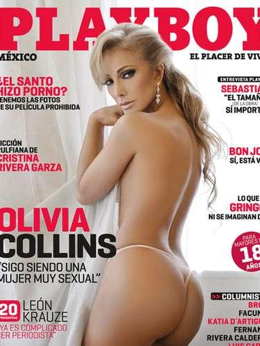 En septiembre de 2010 Olivia Collins se despojó de sus ropas para demostrar que a sus 53 años tenía todo para posar en la revista del conejito ¿la recuerdas?