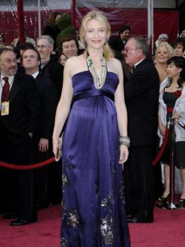 En la entrega 80 del Oscar en el 2008, Cate Blanchett asistió a la ceremonia embarazada
