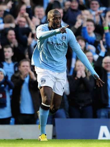 El marfileño celebra su gol en la FA Cup.