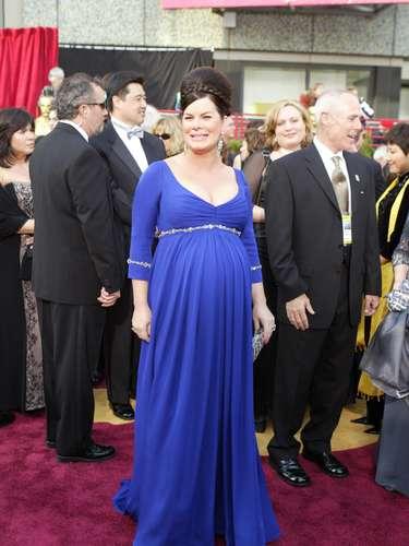 La actriz llegó embarazada a la entrega 76 del Oscar embarazada de gemelos