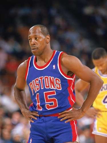 El ex excolta Vinnie Johnson fue clave para los Detroit Pistons que ganaron los campeonatos de la NBA en 1989 y 1990.