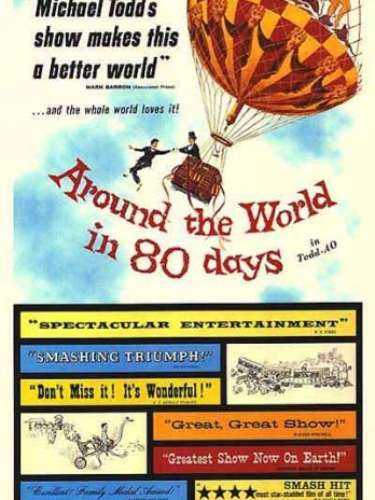 En 1956 la película de aventuras Around the World in Eighty Days, de Michael Anderson y John Farrow, fue el film premiado por la Academia.