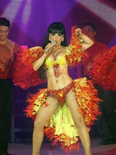 Maribel Guardia encantó a los asistentes al cantar y bailar en 'Qué Rico Mambo'