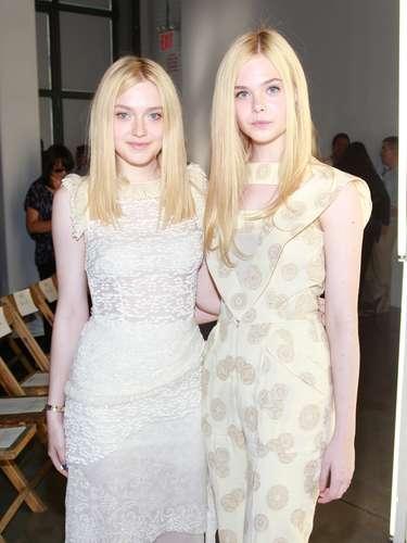 Dakota Fanning y Elle Fanning:Ambas se hicieron mundialmente conocidas cuando eran muy pequeñas por sus espectaculares actuaciones en el cine.