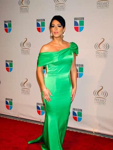 Cada quién luce lo que gusta pero a Marissa del Portillo no le lucía ni el color ni el modelito en los alfombra roja del 2010.