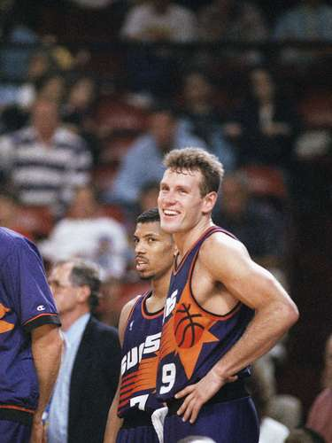 Suns trade for KJ, Majerle: In 1988, the Cleveland Cavaliers traded Kevin Johnson, Dan Majerle, Mark West, Tyrone Corbin and two second-round picks to Phoenix for Larry Nance, Mike Sanders and their 1988 first-round pick. KJ and Majerlewere part of the nucleus of very good Suns teams over the next few years, culminating in Phoenix's run to the 1993 NBA Finals. Nance was an anchor fora young Cavs team that frequently reached the playoffs.