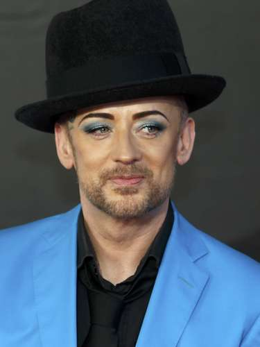 Singer Boy George arrives for the BRIT Awards at the O2 Arena in London February 20, 2013.   REUTERS/Luke Macgregor (BRITAIN  - Tags: ENTERTAINMENT SOCIETY)