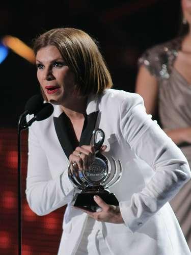 Otro gran momento de la noche fue cuando la estrella de la canción, Olga Tañón, obtuvo el premio a Mejor Cantante Femenina Tropical.