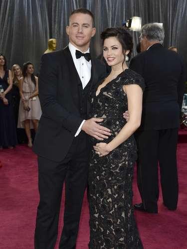 Channing Tatum está encantado con su próxima paternidad y no dejó de presumir la pancita de su esposa.