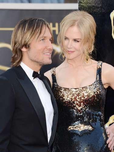 Nicole Kidman bellísima y enamorada junto a su esposo Keith Urban.