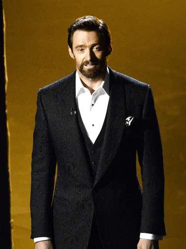 El actor Hugh Jackman cautivó en la gala con la potencia de su voz.