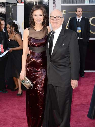 News Corporation Chairman y CEO Rupert Murdoch con su esposa wife Wendi Murdoch.