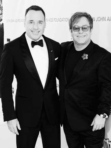David Furnish, la pareja de Elton John lo apoyo en el evento.