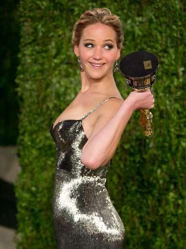 Jennifer y su Oscar son simplemente inseparables.