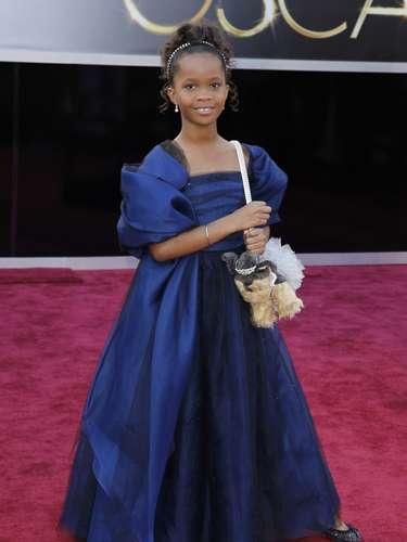 La pequeña de nueve años Quvenzhane Wallis, la actriz más joven nominada al Óscar por \