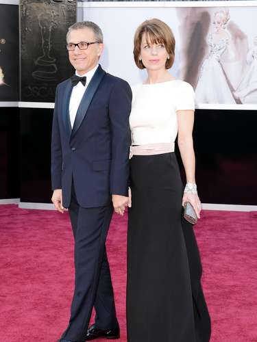 Another adorable couple! Best supporting actor winner Christoph Waltz and date Judith Holste.