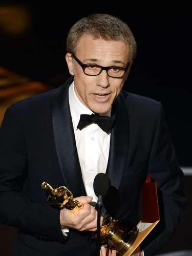 Christoph Waltz agradece haber ganado el premio a Mejor Actor de Reparto por su papel del 'Dr. King Schultz' en el filme ¿Django Unchained' de Quentin Tarantino.